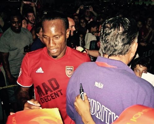 Drogba greets fans after his Phoenix Rising FC debut